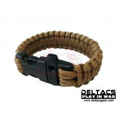"Deltacs 8"" Survival Paracord Bracelet w/QD Buckle - Tan"